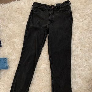 Hollister black high rise skinny jeans